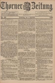 Thorner Zeitung : Begründet 1760. 1898, Nr. 210 (8 September)