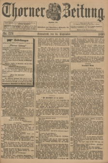 Thorner Zeitung : Begründet 1760. 1898, Nr. 224 (24 September)