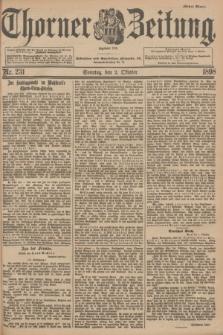 Thorner Zeitung : Begründet 1760. 1898, Nr. 231 (2 Oktober) - Erstes Blatt
