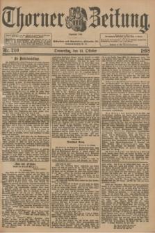 Thorner Zeitung : Begründet 1760. 1898, Nr. 240 (13 Oktober)