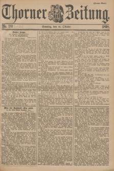 Thorner Zeitung. 1898, Nr. 243 (16 Oktober) - Zweites Blatt