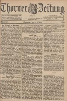 Thorner Zeitung : Begründet 1760. 1898, Nr. 248 (22 Oktober) + wkładka