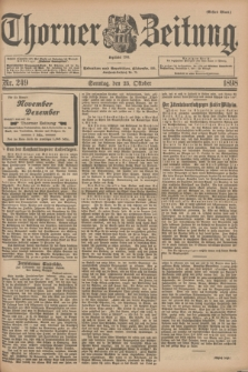 Thorner Zeitung : Begründet 1760. 1898, Nr. 249 (23 Oktober) - Erstes Blatt + wkładka
