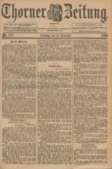 Thorner Zeitung : Begründet 1760. 1898, Nr. 273 (22 November) + dod.