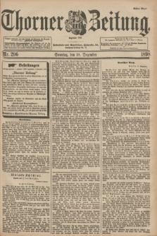 Thorner Zeitung : Begründet 1760. 1898, Nr. 296 (18 Dezember) - Erstes Blatt