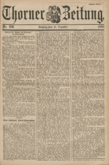 Thorner Zeitung. 1898, Nr. 296 (18 Dezember) - Zweites Blatt