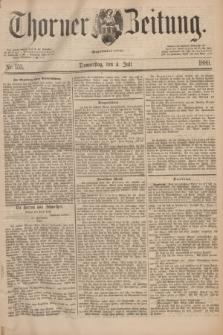 Thorner Zeitung : Begründet 1760. 1889, Nr. 153 (4 Juli)