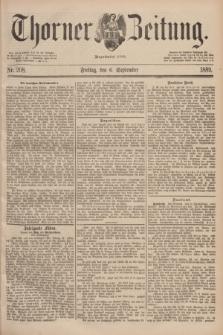Thorner Zeitung : Begründet 1760. 1889, Nr. 208 (6 September)