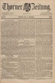 Thorner Zeitung : Begründet 1760. 1889, Nr. 218 (18 September)