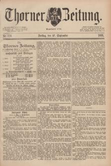 Thorner Zeitung : Begründet 1760. 1889, Nr. 226 (27 September)