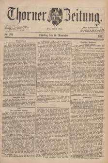 Thorner Zeitung : Begründet 1760. 1889, Nr. 264 (10 November) + dod.
