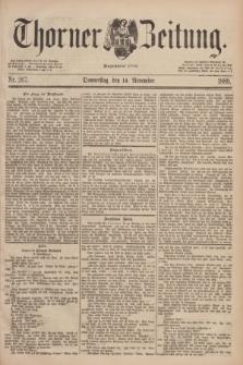 Thorner Zeitung : Begründet 1760. 1889, Nr. 267 (14 November)