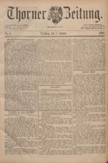 Thorner Zeitung : Begründet 1760. 1890, Nr. 5 (7 Januar)