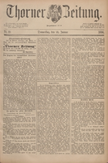 Thorner Zeitung : Begründet 1760. 1890, Nr. 19 (23 Januar)
