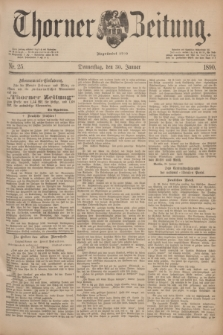 Thorner Zeitung : Begründet 1760. 1890, Nr. 25 (30 Januar)