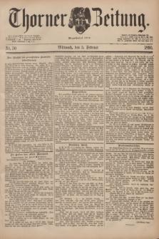 Thorner Zeitung : Begründet 1760. 1890, Nr. 30 (5 Februar)