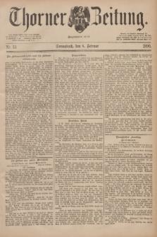 Thorner Zeitung : Begründet 1760. 1890, Nr. 33 (8 Februar)
