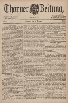 Thorner Zeitung : Begründet 1760. 1890, Nr. 34 (9 Februar) + dod.