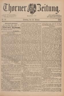 Thorner Zeitung : Begründet 1760. 1890, Nr. 46 (23 Februar) + dod.