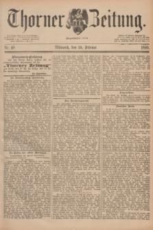 Thorner Zeitung : Begründet 1760. 1890, Nr. 48 (26 Februar)