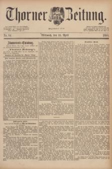 Thorner Zeitung : Begründet 1760. 1890, Nr. 94 (23 April)