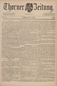 Thorner Zeitung : Begründet 1760. 1890, Nr. 132 (10 Juni)