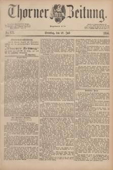 Thorner Zeitung : Begründet 1760. 1890, Nr. 173 (27 Juli)