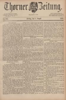 Thorner Zeitung : Begründet 1760. 1890, Nr. 183 (8 August)