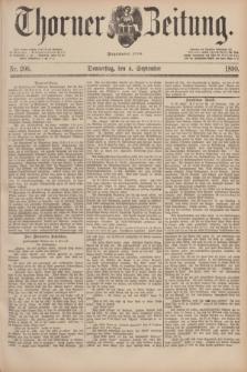 Thorner Zeitung : Begründet 1760. 1890, Nr. 206 (4 September)
