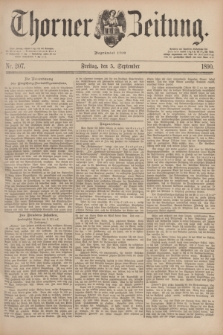 Thorner Zeitung : Begründet 1760. 1890, Nr. 207 (5 September)