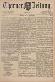 Thorner Zeitung : Begründet 1760. 1890, Nr. 213 (12 September)