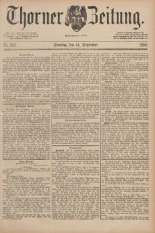 Thorner Zeitung : Begründet 1760. 1890, Nr. 215 (14 September) + dod.