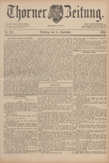 Thorner Zeitung : Begründet 1760. 1890, Nr. 216 (16 September)