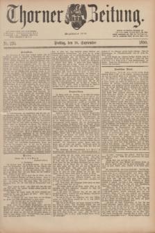 Thorner Zeitung : Begründet 1760. 1890, Nr. 219 (19 September) + dod.