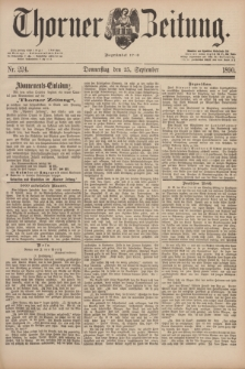 Thorner Zeitung : Begründet 1760. 1890, Nr. 224 (25 September)