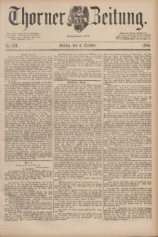 Thorner Zeitung : Begründet 1760. 1890, Nr. 231 (3 October)