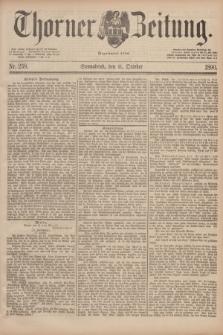 Thorner Zeitung : Begründet 1760. 1890, Nr. 238 (11 October)