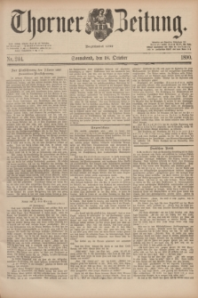 Thorner Zeitung : Begründet 1760. 1890, Nr. 244 (18 October)