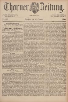 Thorner Zeitung : Begründet 1760. 1890, Nr. 252 (28 October)