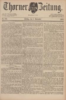Thorner Zeitung : Begründet 1760. 1890, Nr. 261 (7 November)