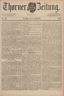 Thorner Zeitung : Begründet 1760. 1890, Nr. 264 (11 November)