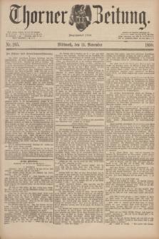 Thorner Zeitung : Begründet 1760. 1890, Nr. 265 (12 November)