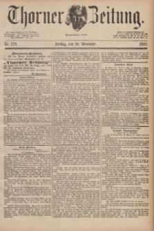 Thorner Zeitung : Begründet 1760. 1890, Nr. 279 (28 November)