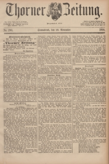 Thorner Zeitung : Begründet 1760. 1890, Nr. 280 (29 November)