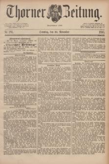 Thorner Zeitung : Begründet 1760. 1890, Nr. 281 (30 November) + dod.