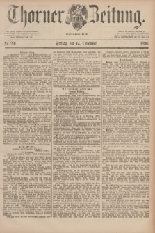 Thorner Zeitung : Begründet 1760. 1890, Nr. 291 (12 December)