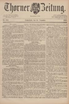 Thorner Zeitung : Begründet 1760. 1890, Nr. 292 (13 December)