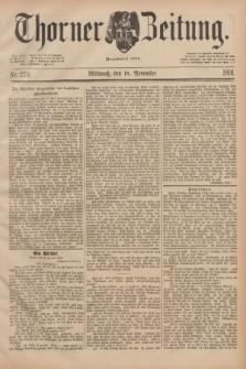 Thorner Zeitung : Begründet 1760. 1891, Nr. 270 (18 November)