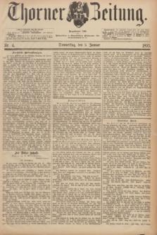 Thorner Zeitung : Begründet 1760. 1893, Nr. 4 (5 Januar)
