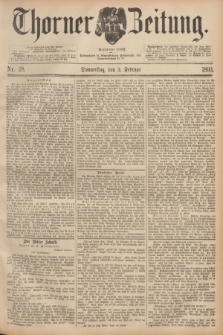 Thorner Zeitung : Begründet 1760. 1893, Nr. 28 (2 Februar)